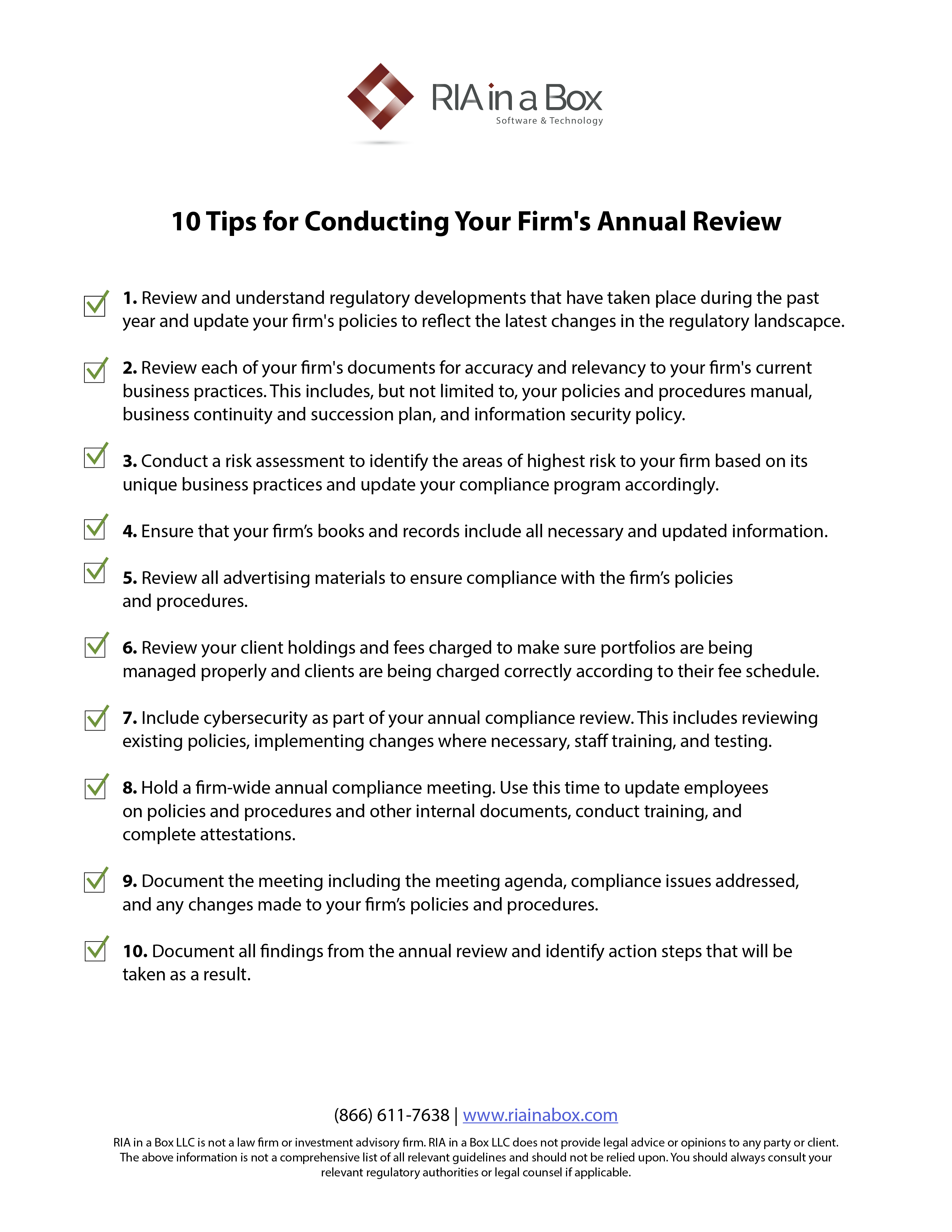 10 Tips for Conducting your Firms Annual Review-1