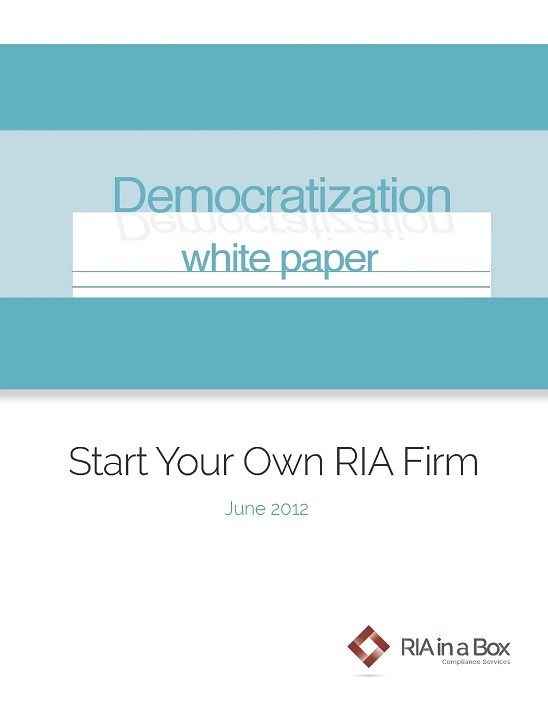 How to start an RIA firm white paper