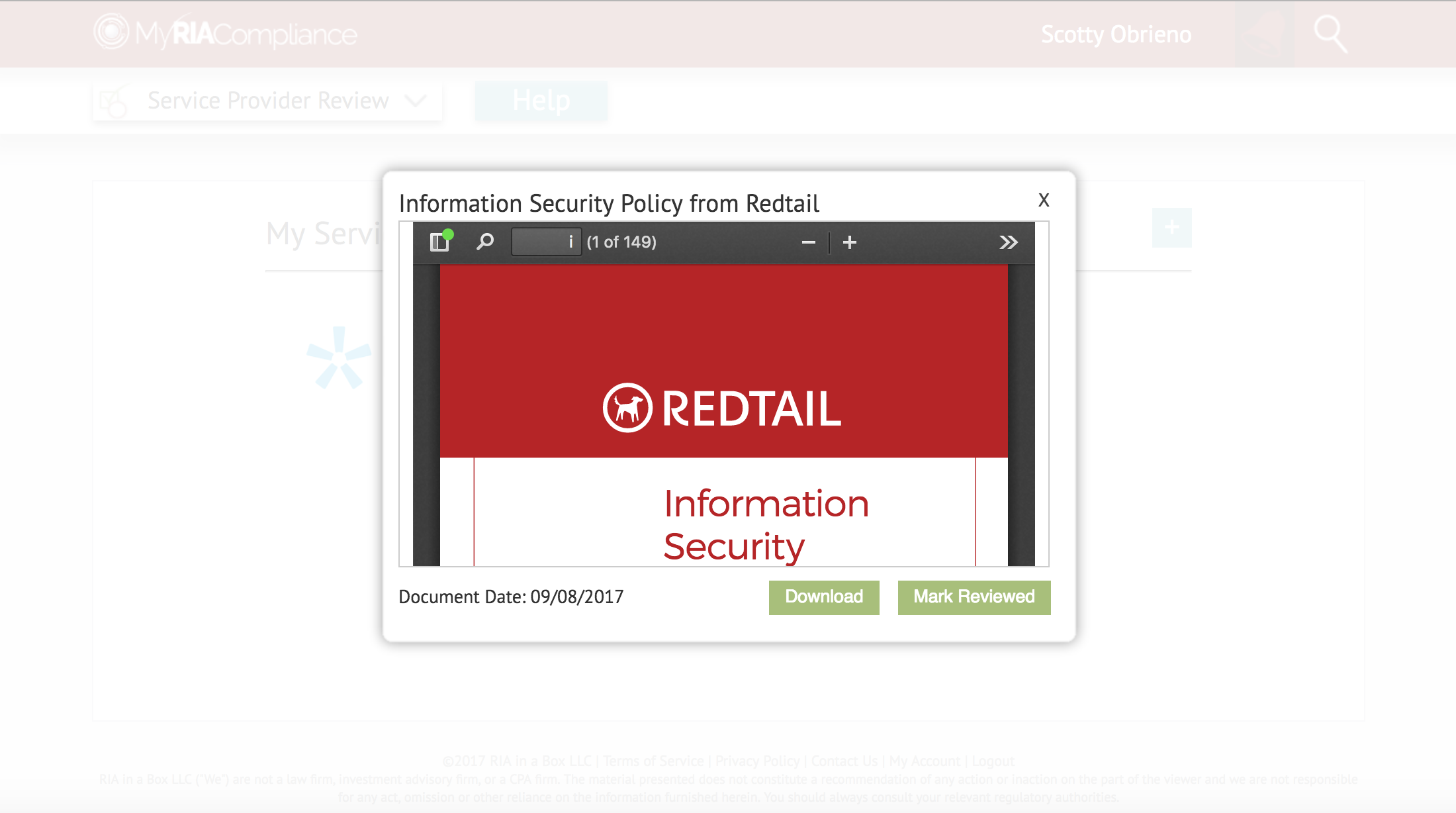 Redtail CRM RIA due diligence