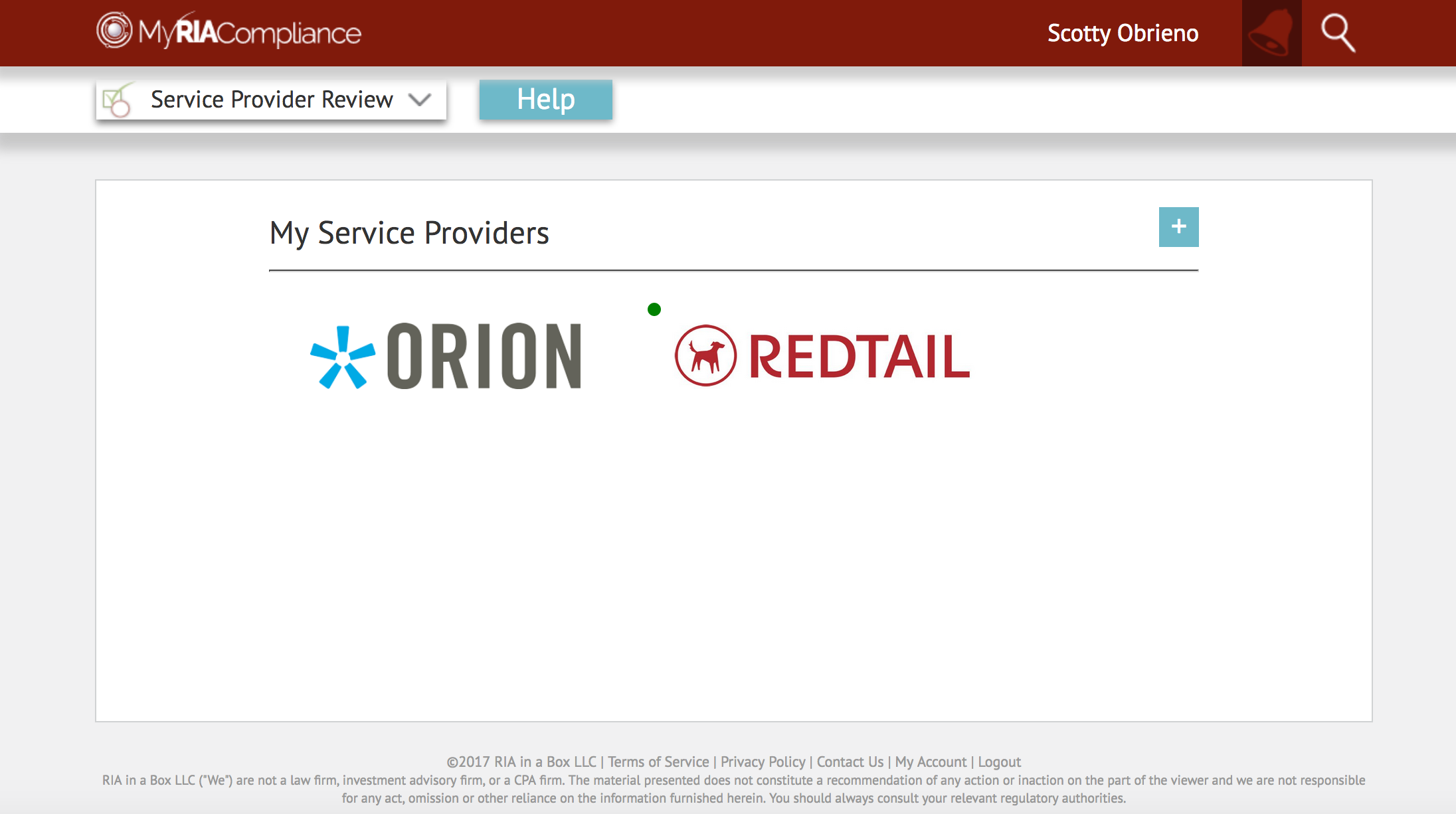 Orion Advisor Service RIA due diligence