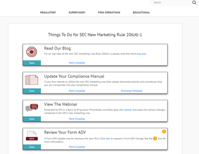 SEC marketing rule new policies and procedures