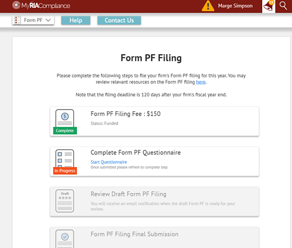 Form PF Filing automation