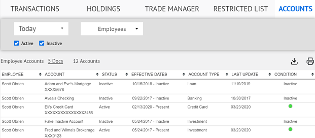 automated employee trade monitoring for RIA firms