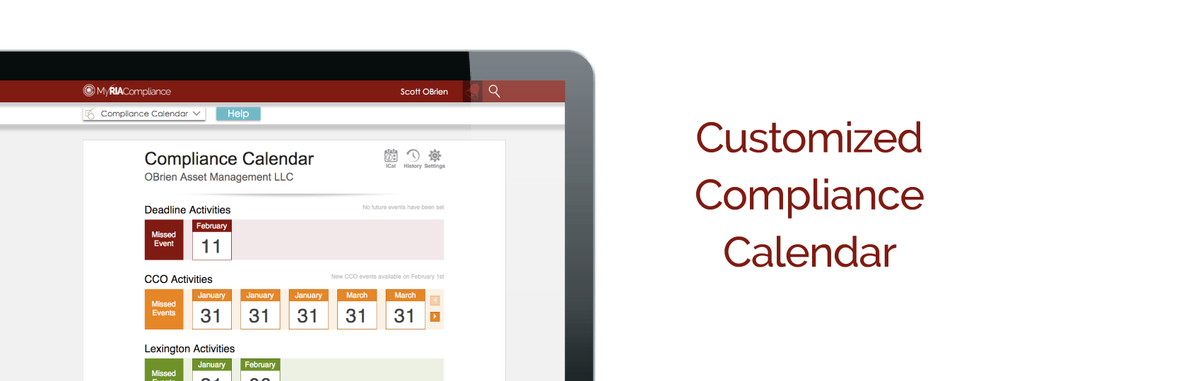 Online RIA compliance software with compliance calendar